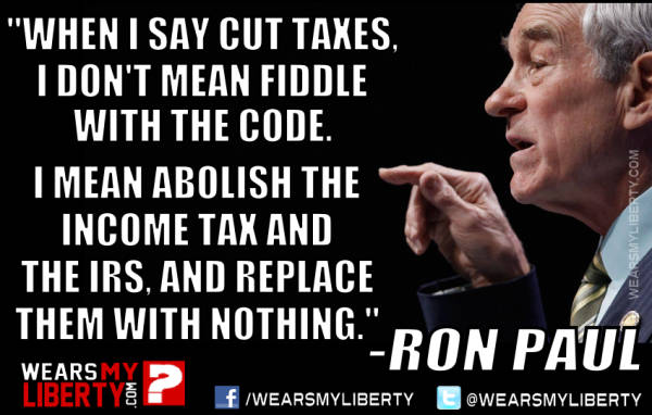 Image result for ron paul taxes
