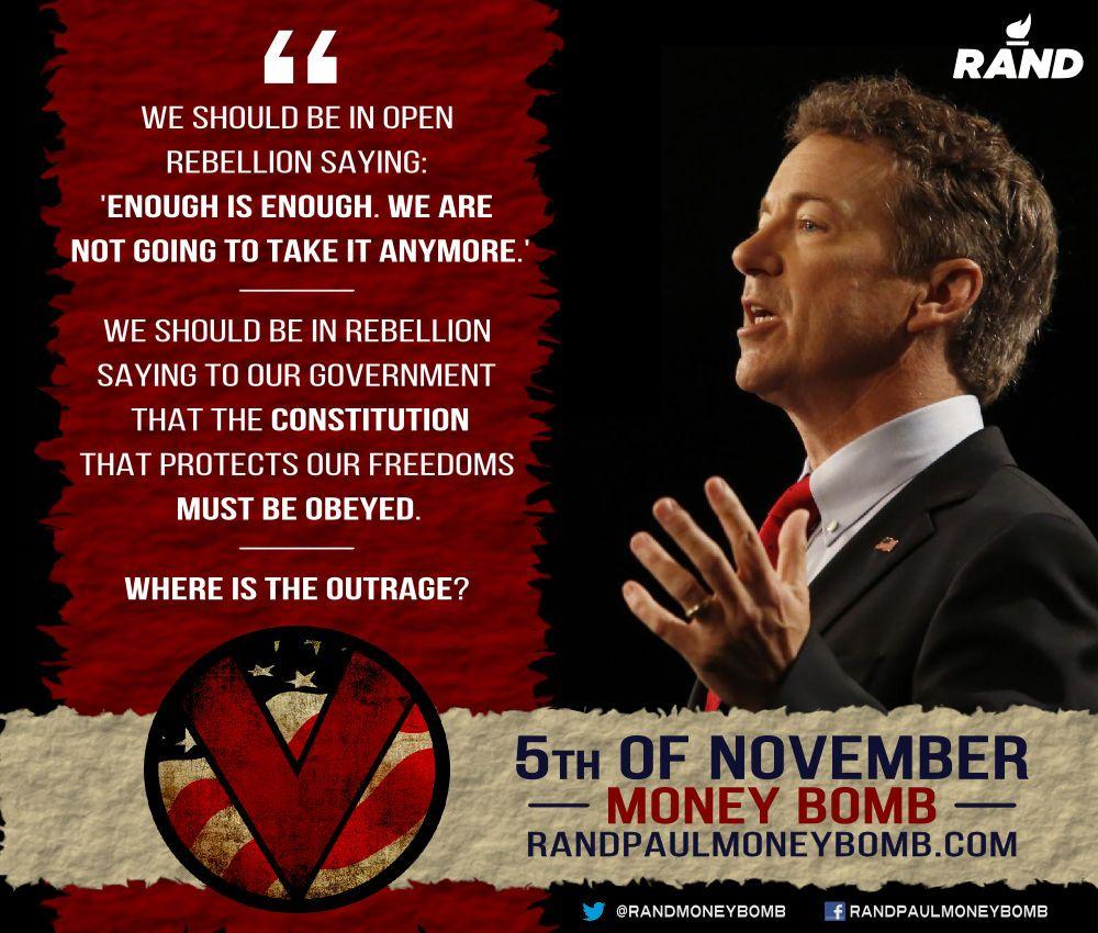 Rand Paul 5th of November Money Bomb