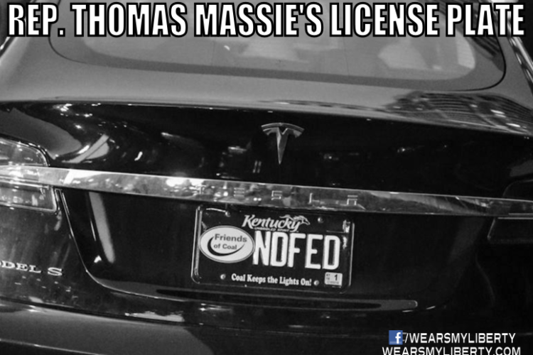 Thomas Massie's End The Fed License Plate