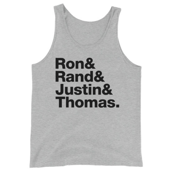 Liberty's Fab Four - Ron Paul - Rand Paul - Justin Amash - Thomas Massie - Tank Top - Heather