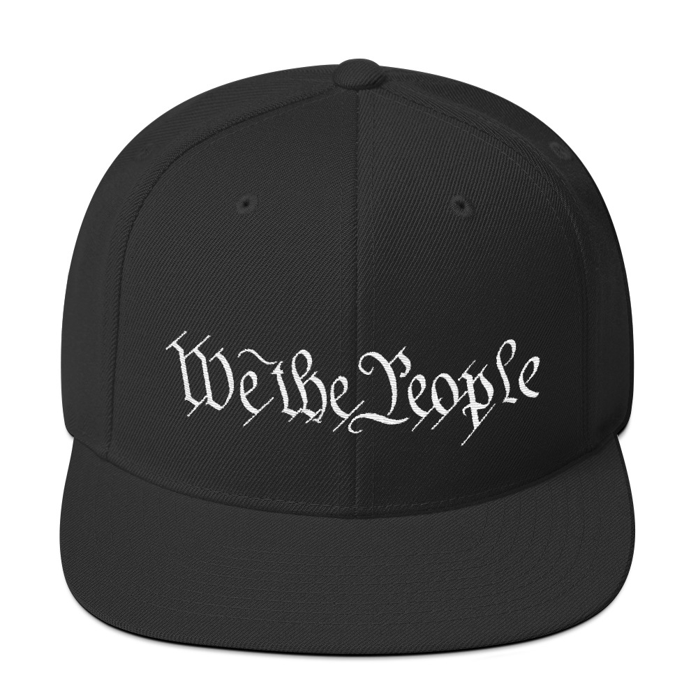 """We The People"" Embroidered Snapback Hat"